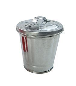 AITING Miniature Galvanized Metal Trash / Garbage Cans Garde