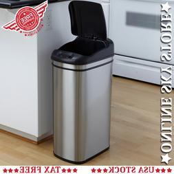Nine Stars Motion Sensor Slim Touchless 11-Gallon Trash Can,