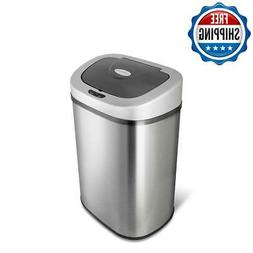 Motion Sensor Touchless Trash Bin Can Brushed Stainless Stee