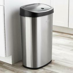 Motion Sensor Trash Can 13 Gallon Stainless Steel Kitchen Ga
