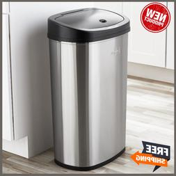 Motion Sensor Trash Can Garbage Touchless Automatic Stainles