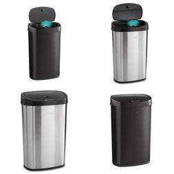 Motion Sensor Trash Can Large 13.2 Gallon Stainless Steel Bl