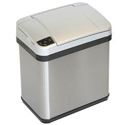 iTouchless 2.5 Gallon Stainless Steel Touchless Trash Can wi