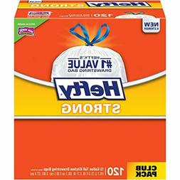 NEW - 120 Count Hefty Strong Kitchen Trash Bags - 13 Gallon