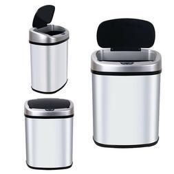 New 13-Gallon Sensor Automatic Touchless Trash Can Kitchen O