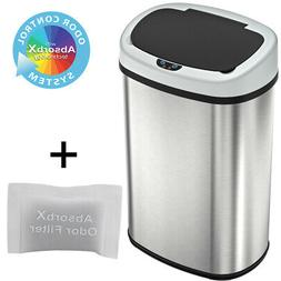 New 13-Gallon Touch Free Sensor Automatic Touchless Trash Ca