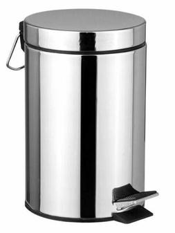Home Basics NEW 20L 20 Liter Stainless Steel Step Garbage Ca