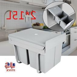 New 30L Kitchen Under Sink Cabinet Trash Waste Garbage Can P
