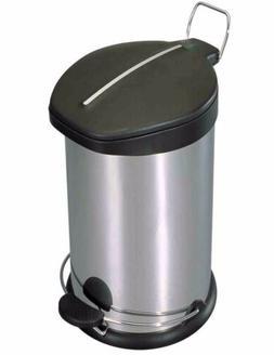 Home Basics NEW 30L Stainless Steel Step Waste Bin Trash Gar
