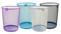 new 6l mesh trash garbage can green