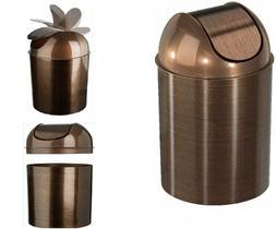 NEW Brown Trash Can Garbage Wastebasket Waste Basket w/Lid B