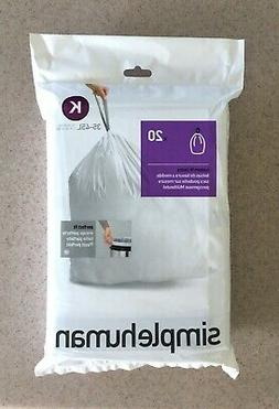 NEW simplehuman Code K 9-12 Gallon Trash Can Liners Garbage