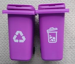 "/"" New /"" Barbie Trash //Garbage// Recycle Cans Set on Wheels"