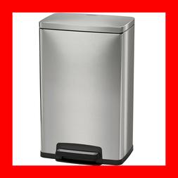 New Stainless Steel Freshener 13 Gallon Step Trash Can Tramo