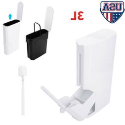 New Trash Can Set With Toilet Brush Bathroom Waste Garbage 3