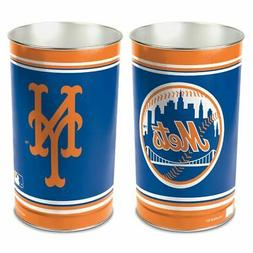 NEW YORK METS ~  Official MLB 15 Inch Wastebasket Trash Can