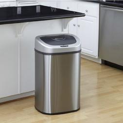 Nine Stars 21.1 Gallon, 80 Liter Oval Motion Sensor Trash Ca