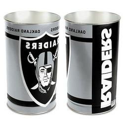 "OAKLAND RAIDERS 15""X10.5"" TRASH CAN WASTEBASKET BRAND NEW WI"