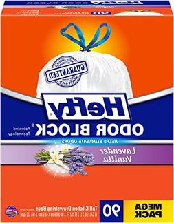 Hefty Odor Block Tall Kitchen Bags, Lavender Vanilla, 90 Cou