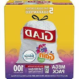 Glad Tall Kitchen Drawstring Trash Bags - OdorShield 13 Gall
