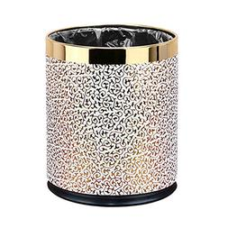 Office Trash Can Without Cover Household Black Metal Trash C