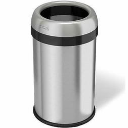 iTouchless Dual-Deodorizer Round Open Top Trash Can, 13 Gall
