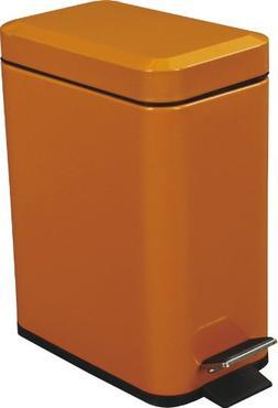 Azumaya Orange Dust Trash Can Square Shape Comapct 1.3 GAL C