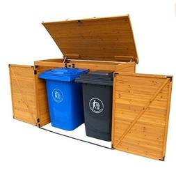 outdoor garbage can shed outdoor backyard trash