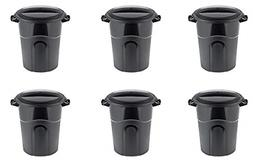 United Solutions Outdoor Trash Can, 20 Gallon, Black, Pack o