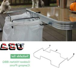 Outdoor Trash Can Bracket Dustbin Cage Garbage Plastic Bag H