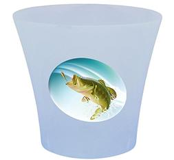 NEW! 3 Gallon Oval Shaped Wastebasket in a Blue Plastic Fini