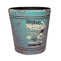 Wastebasket, GTKRTU PU Leather European Style Retro Trash Ca