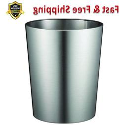 Patton Wastebasket Trash Can Brushed Stainless Steel for Bat