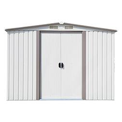 Peach Tree Outdoor Garden Storage Shed Utility Tool Shed, W/