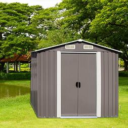 Peach Tree Outdoor Garden Storage Shed Utility Tool Shed kit