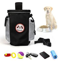 Petop Hands Free Dog Treat Pouch and Training Bag with Poop