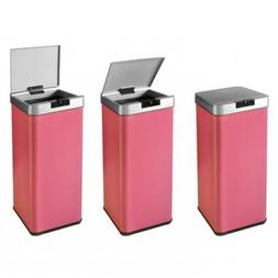 Pink 13 Trash can Automatic Sensor Free Touch Motion Garbage