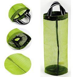 Plastic Bag Holder Dispensers Mesh Garbage Bags Hanging Stor