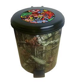 The Furniture Cove 2.6 Gallon Plastic Step Can Wastebasket i