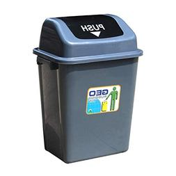 YC electronics Outdoor Plastic Flip Trash Can, Square Office