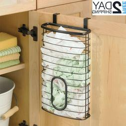 Plastic Grocery Bag Storage Hanger Mount Over Cabinet Door K