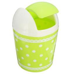 TOOGOO Plastic Mini Trash Basket Garbage Can Bin Desktop Was