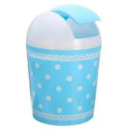 TOOGOO Plastic Mini Trash Basket Garbage Can Bin Desktop Was