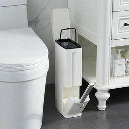 Plastic Narrow Trash Can Mini Garbage Rubbish Toilet Brush M