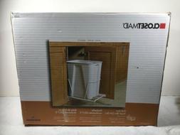 Plastic Pull Out  Trash Can White Garbage Bin Basket Waste U