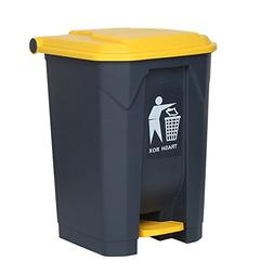 Trash Can Plastic Rectangular Garbage Can with Lid, Large Ou