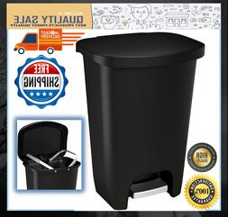 Plastic Step Trash Can With Lid Clorox Odor Protection 13 Ga