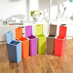 wuudi Plastic Trash Can With Lid Dustbin Home Office Waste B