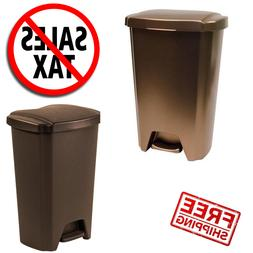 Plastic Trash Can Garbage Bin Waste 13 Gallon Trash Containe