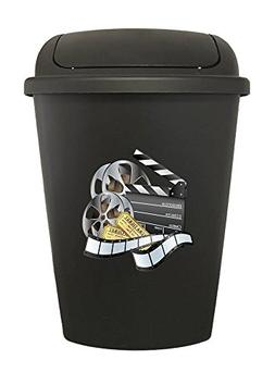 The Furniture Cove 7.5 Gallon - Black Plastic Trash Can Wast